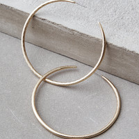 AEO Large Gold Hoop Earrings, Gold