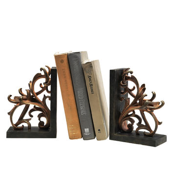 Elegant Scroll Bookends