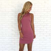 Full Control Bodycon Dress In Raspberry