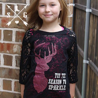 Kids 'Tis The Season to Sparkle Raglan