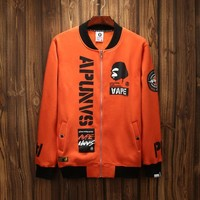 'AAPE'Sports On Sale Hot Deal Couple Hip-hop Jacket Zippers Hoodies Baseball [211446333452]