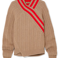 Jil Sander - Striped cable-knit wool-blend sweater