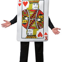 King of Hearts Deluxe Playing Card Adult Costume