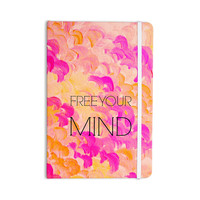 "Ebi Emporium ""Free Your Mind Pink"" Pink Orange Everything Notebook"