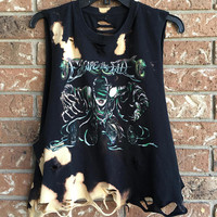 ESCAPE THE FALL Large bleached, distressed, cut , rock n roll, heavy metal rock shirt
