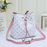 LV Louis Vuitton Classic Check Print Bucket Bag Fashion Ladies One Shoulder Messenger Bag