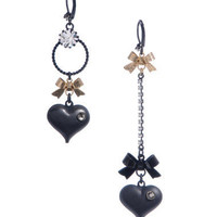 MISMATCH BUBBLE HEART EARRINGS - Betsey Johnson