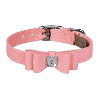 Big Bow Collar —Puppy Pink