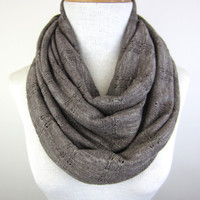Taupe Sweater Scarf - Light Brown Infinity Scarf - Beige Sweater Knit Scarf