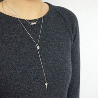 Key with Lock double layers chain Necklace in Gold / Silver