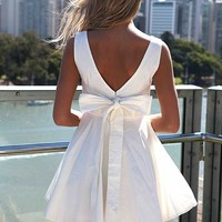 APPROACH TIE BOW DRESS , DRESSES, TOPS, BOTTOMS, JACKETS & JUMPERS, ACCESSORIES, 50% OFF SALE, PRE ORDER, NEW ARRIVALS, PLAYSUIT, GIFT VOUCHER,,White Australia, Queensland, Brisbane