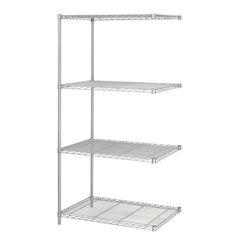 Safco Industrial Extra Strength Steel Shelving Add-On Storage Unit 24 x 36 Gray