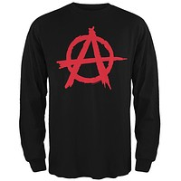 Anarchy Black Adult Long Sleeve T-Shirt