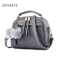 ZENBEFE Women Bags PU Leather Women Messenger Bag Vintage Handbags CrossBody Shoulder Bag Bolsa Feminina Purse Totes Ladies Bags