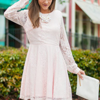 Sweet Disposition Dress, Light Pink