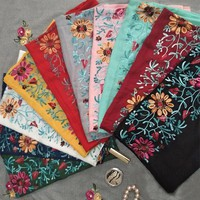 2018 Embroidery Women Scarf Vintage Autum Pashmina Cotton Shawls and Wraps Lady Floral Bandana Female Hijab Winter Muslim Sjaal