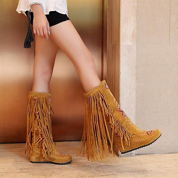 Over the Knee Boots High Heels Pu Leather Women Shoes
