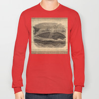 VINTAGE GREENLAND WHALE Long Sleeve T-shirts by Matthew White