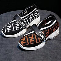 Fendi new style personalized casual shoes FF fashion ladies increased breathable casual sports shoes men