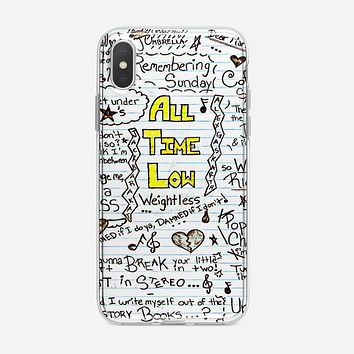 All Time Low Art Quotes iPhone XS Case