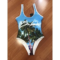 BALMAIN New fashion more print vest one piece bikini