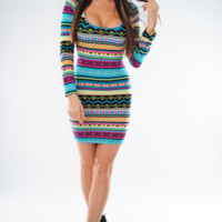 RESTOCK: Star Of The Show Dress: Multi