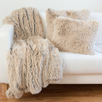 Designer Collections by Sheri Shag/Faux Fur Pillows and Throw Blanket   Overstock.com Shopping - The Best Deals on Throw Pillows