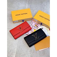 Louis Vuitton LV Leather Flap Wallet
