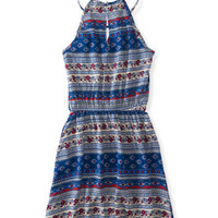 Floral Mix High-Neck Dress - Aeropostale