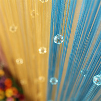 New Chic Beaded Curtain Crystal Divider Decorative String Door Window Room Panel