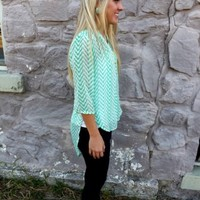 Mint Zip Pocket High Low