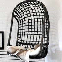 Hanging Chair Rattan Black