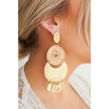 Vacation Vibes Dangle Earrings (Antique Gold)