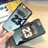 Famous Basketball Champion No 23 Jordan Case for iPhone SE 5 5S 6 6S 6PLUS 6S PLUS Back Cover brand  PC hard mirror phone cases