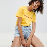 Adolescent Clothing t-shirt with born to be mild slogan at asos.com