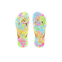 Pool Flip-Flop - Lovers Coral | Lilly Pulitzer