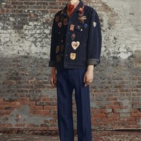 Indie Designs Gucci Inspired Multiple Embroideries Velvet Corduroy Jacket