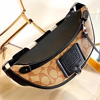 COACH New fashion pattern print canvas shoulder bag crossbody bag handbag