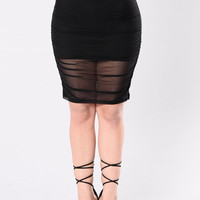 Classic Night Out Skirt - Black