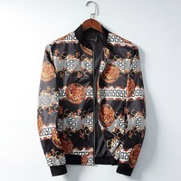 Versace Men Fashion Casual Cardigan Jacket Coat