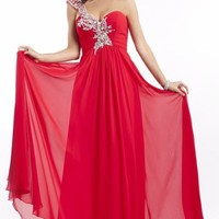 Asymmetrical Chiffon Gown by Princess Collection by Party Time