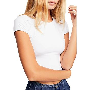 Free People - Cap Sleeve Seamless Crop Top - More Colors