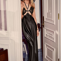 Satin & Lace Halter Gown - Very Sexy - Victoria's Secret