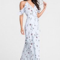 Willow Blue Floral Maxi Dress by Lush