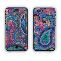 The Bold Colorful Paisley Pattern Apple iPhone 6 LifeProof Nuud Case Skin Set