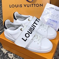 Wearwinds Louis Vuitton LV Hot New Women's Velcro Casual White Shoes