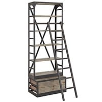 Velocity Wood Bookshelf Brown EEI-1211-BRN-SET