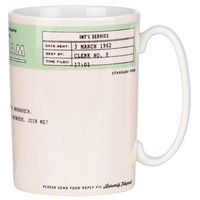 kate spade new york 'snap happy - telegram' porcelain mug | Nordstrom