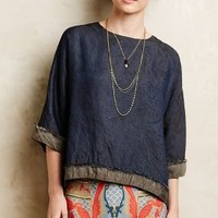 Fringed Indigo Top