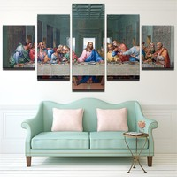 Modular Pictures HD Prints Canvas Jesus Paintings Wall Art Framework 5 Piece Last Supper Landscape Poster Living Room Home Decor
